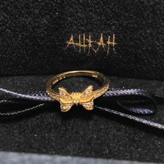 アーカー(AHKAH)の最終値下げアーカーk18ダイヤポルトリング5号(リング(指輪))
