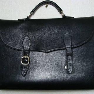 クロムハーツ(Chrome Hearts)のクロムハーツ ◇ レザー ブリーフ ケース 書類 バッグ かばん 鞄 ◇ クロス(ビジネスバッグ)