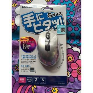 エレコム(ELECOM)のエレコム 3ボタンBlueLEDマウス M-BL16UBSV 小型 USB(PC周辺機器)