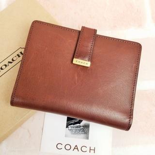 コーチ(COACH)のデッドストック!未使用 オールドコーチ ☆ レザー 2つ折り 折財布(財布)
