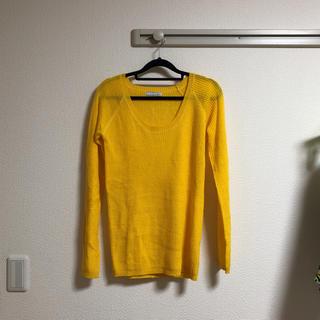 セーター 薄手 黄色 arudi hynt(ニット/セーター)