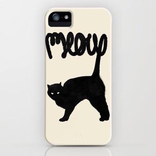 ソサエティシックス(Society6)の★ 破格 ★ 新品 iPhone 5 ソサエティ 黒猫 猫 正規品 ケース(モバイルケース/カバー)