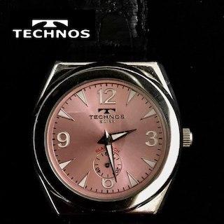 テクノス(TECHNOS)の美品🔴 TECHNOS.テクノス🔴スモセコ、男女兼用、腕時計(腕時計)