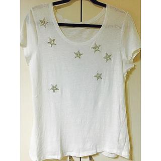 ザラ(ZARA)のZARA 星ビジュー付きTシャツ  中古(Tシャツ(半袖/袖なし))