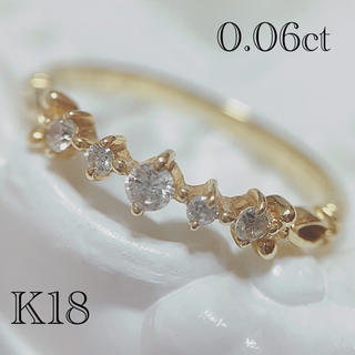 アガット(agete)のアガット agete K18 ダイヤモンド ピンキー リング(リング(指輪))