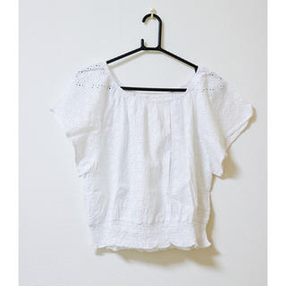 ジーユー(GU)のレースブラウス(シャツ/ブラウス(半袖/袖なし))