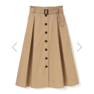 グレイル(GRL)のGRL ベルト付タックトレンチデザインスカート モカ 新作 春 夏(ロングスカート)