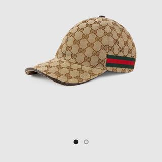 グッチ(Gucci)のGUCCI オリジナルGGキャンバス ベースボールキャップ一回着用美品です。(キャップ)