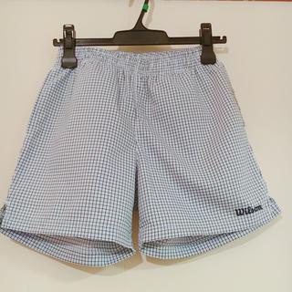 ウィルソン(wilson)のウィルソン、テニス、パンツ、水色、チェック(ウェア)