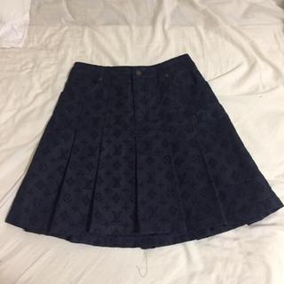 ルイヴィトン(LOUIS VUITTON)のルイヴィトンのデニムスカート 34(ひざ丈スカート)