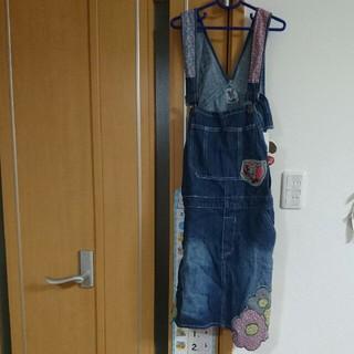 バナバナ(VANA VANA)のバナバナ デニム オーバーオール  ジャンパースカート 新品 160 M (ワンピース)