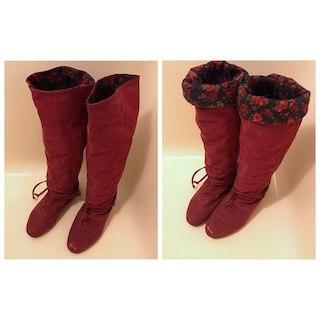 コキュ(COCUE)のPON様用★23cmコキュ2wayブーツ花柄 赤(ブーツ)