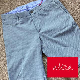 アルテア(ALTEA)の【新品】アルテア ALTEA ハーフパンツ ギンガムチェック 46サイズ(ショートパンツ)
