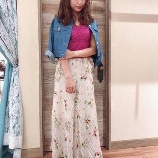 デイシー(deicy)の2018S/S フローラストライプフレアスカート(ロングスカート)