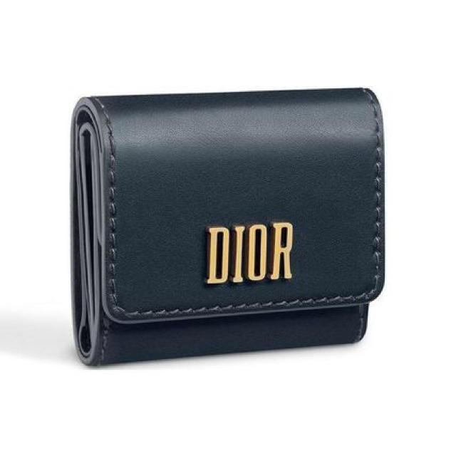 the latest 67b1e 4e1a6 Dior ブルー カーフレザー ウォレット   フリマアプリ ラクマ