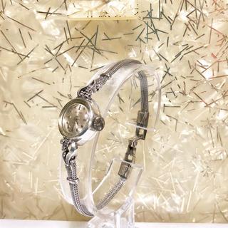 ウォルサム(Waltham)のVintage Waltham シルバー無垢ダイヤカクテルウォッチ(腕時計)