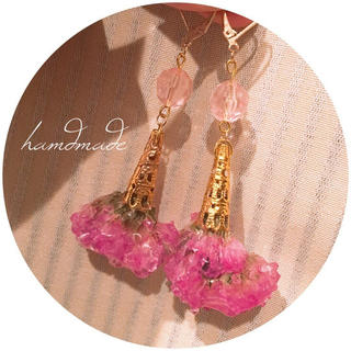 hamdmade pierce Statice bouquet(ピアス)