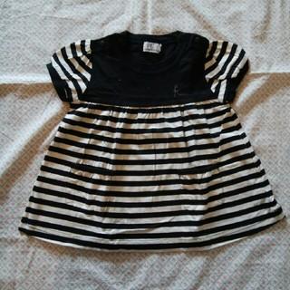 クミキョク(kumikyoku(組曲))の組曲 女の子 半袖 チュニック Tシャツ ワンピース 80 90(その他)