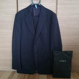 L1◆ジュンメン◇ブラックライン◆背抜スーツ◆チャコールグレー