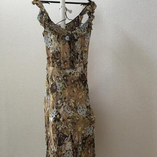 ツインセット(TWIN-SET)のお値下げ 美品 twin set ドレス ワンピース イタリア インポート(ミディアムドレス)