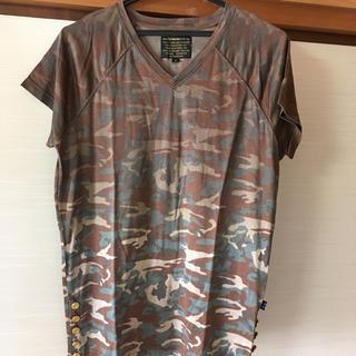 イズリール(IZREEL)のイズリール VネックTシャツ ブラウン(Tシャツ/カットソー(半袖/袖なし))