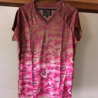 イズリール(IZREEL)のイズリール VネックTシャツ ピンク系(Tシャツ/カットソー(半袖/袖なし))