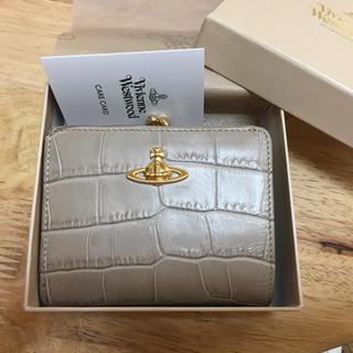 ヴィヴィアンウエストウッド(Vivienne Westwood)の【割引あり】Viviene Westwood クロコレザー がま口財布(財布)