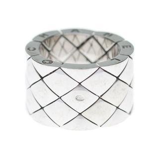 シャネル(CHANEL)のCHANELシャネルK18WG750金マトラッセワイドホワイトゴールドリング指輪(リング(指輪))
