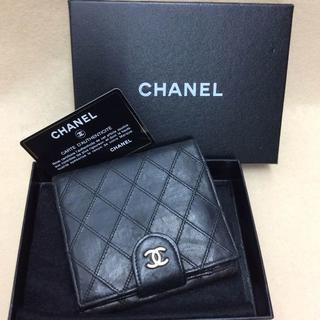 シャネル(CHANEL)のこれが最終値下げ!【CHANEL シャネル】二つ折り財布 ブラック(財布)