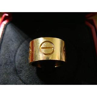 カルティエ(Cartier)のカルティエ◆K18金YG750エクストララージワイドラブリング指輪ゴールドSPO(リング(指輪))