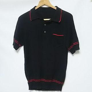 テンダーロイン(TENDERLOIN)の限定名作!テンダーロイン高級ニットポロシャツ人気の廃盤モデル!キムタク黒(ポロシャツ)