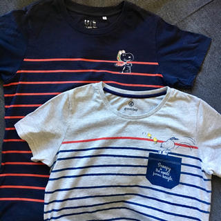 スヌーピー(SNOOPY)のスヌーピー Tシャツ 2枚(Tシャツ(半袖/袖なし))