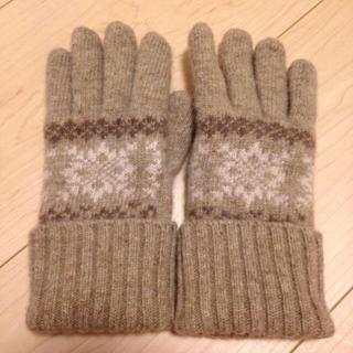 ムジルシリョウヒン(MUJI (無印良品))のニット手袋❤︎(手袋)