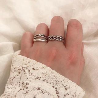 シルバー925 twistchain ring (リング(指輪))