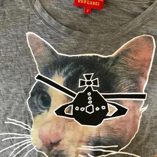 ヴィヴィアンウエストウッド(Vivienne Westwood)の値下げ ヴィヴィアン キャット ロングTシャツ 猫(Tシャツ(半袖/袖なし))
