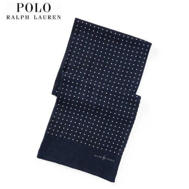 POLO RALPH LAUREN(ポロラルフローレン)の新品*ポロラルフローレン*ドットプリント ウール Challis スカーフ** メンズのファッション小物(マフラー)の商品写真