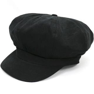 帽子 レディース  フェス キャスケット コットンバックベルトMJ ブラック(キャスケット)