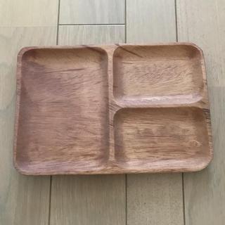 ムジルシリョウヒン(MUJI (無印良品))の無印良品 アカシア 角皿 仕切付 小(収納/キッチン雑貨)