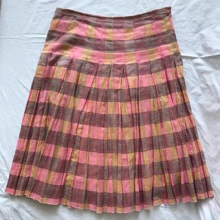 プラダ(PRADA)のPRADA プラダ 膝下丈 チェック柄 スカート(ひざ丈スカート)