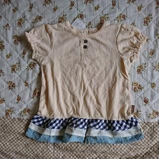 ビケット(Biquette)の新品・キムラタン・Biquette/ビケット・半袖チュニック・イエロー・100(Tシャツ/カットソー)