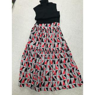 ガリャルダガランテ(GALLARDA GALANTE)の美品♡幾何学フレアロングスカート(ロングスカート)