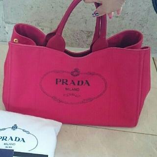 プラダ(PRADA)の週末限定値下げ⤵   プラダ  カナパ   レッド   L   (トートバッグ)