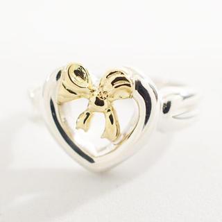 ティファニー(Tiffany & Co.)の【未使用】ティファニー リング 指輪 ハート リボン 925×750 Z0350(リング(指輪))