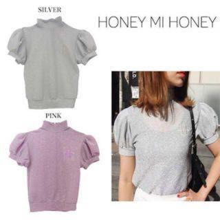 ハニーミーハニー(Honey mi Honey)のhoney mi honey♡グリッタートップス(カットソー(半袖/袖なし))