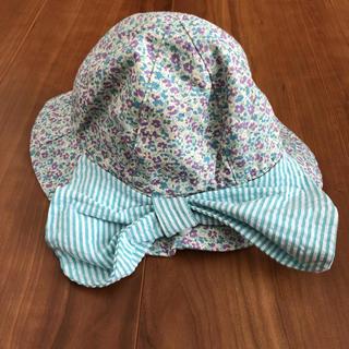 小花柄 リボン付き帽子 42㎝(帽子)