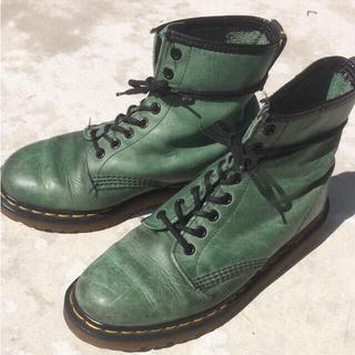 ドクターマーチン(Dr.Martens)のDr. Martens 8ホール 緑 グリーン MADE IN ENGLAND(ブーツ)