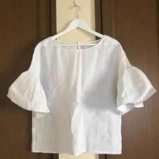 カワイイ(cawaii)のcawaii リネン半袖ブラウス🎀(シャツ/ブラウス(半袖/袖なし))