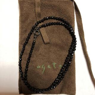 アガット(agete)の新品定価2万 agete ビーズ ネックレス ユニセックス チョーカー 石(ネックレス)
