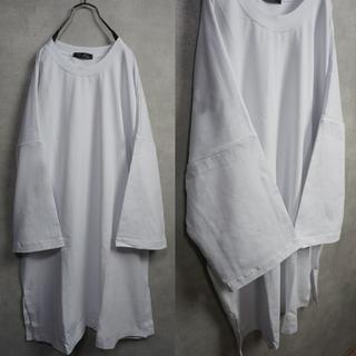 オーバーサイズ ビックTシャツ ロンT 白(Tシャツ/カットソー(七分/長袖))