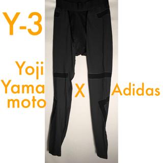 ワイスリー(Y-3)の🌟超美品🌟 Y-3 インナー ストレッチ レギンス グレー サイズ S(レギンス/スパッツ)